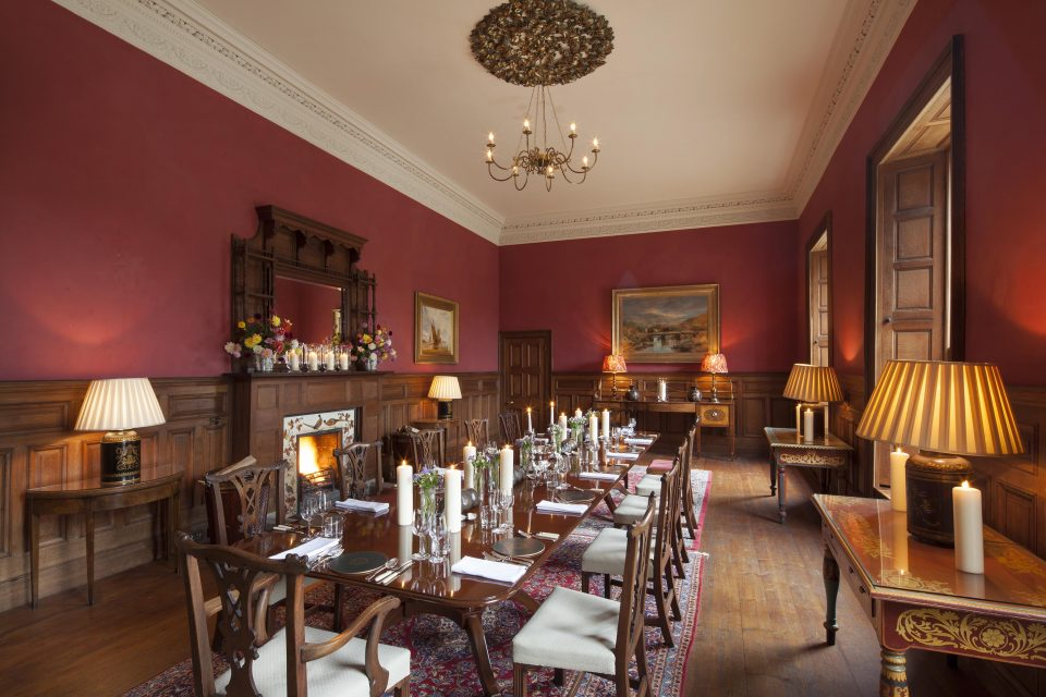 Boconnoc House smoking room drawing room interiors