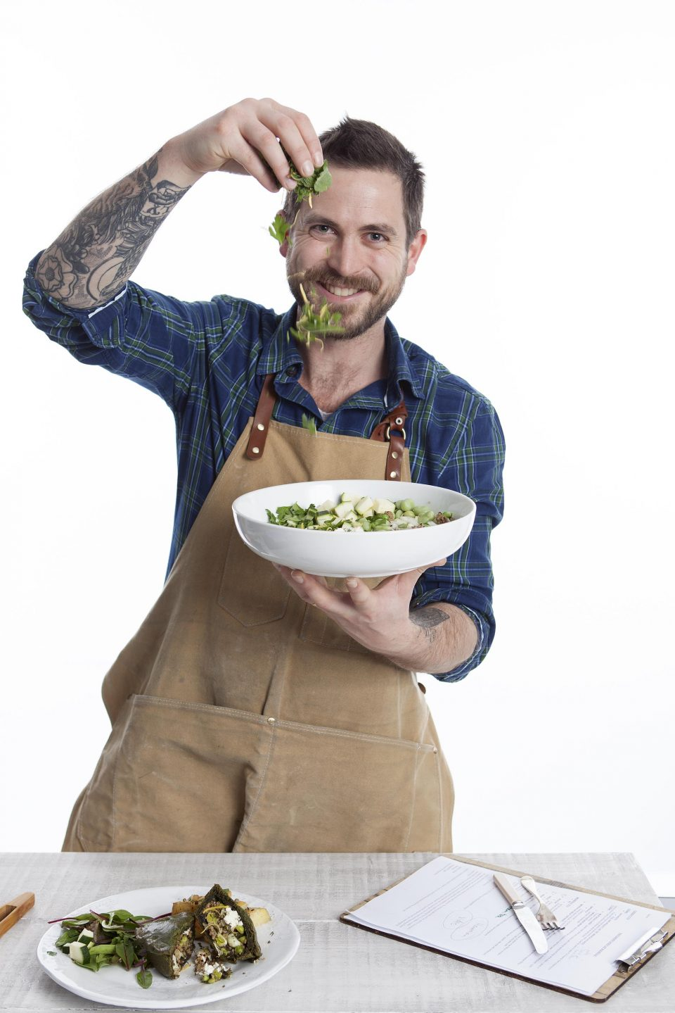 Food shoot at Princes House with James Strawbridge for The Bake Factory