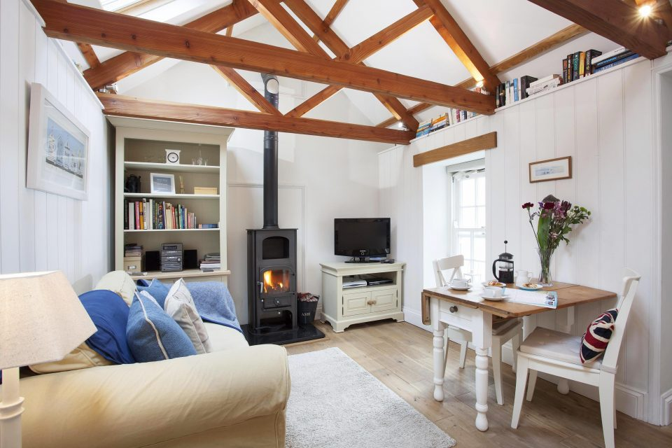 Cozy living room in Cornwall