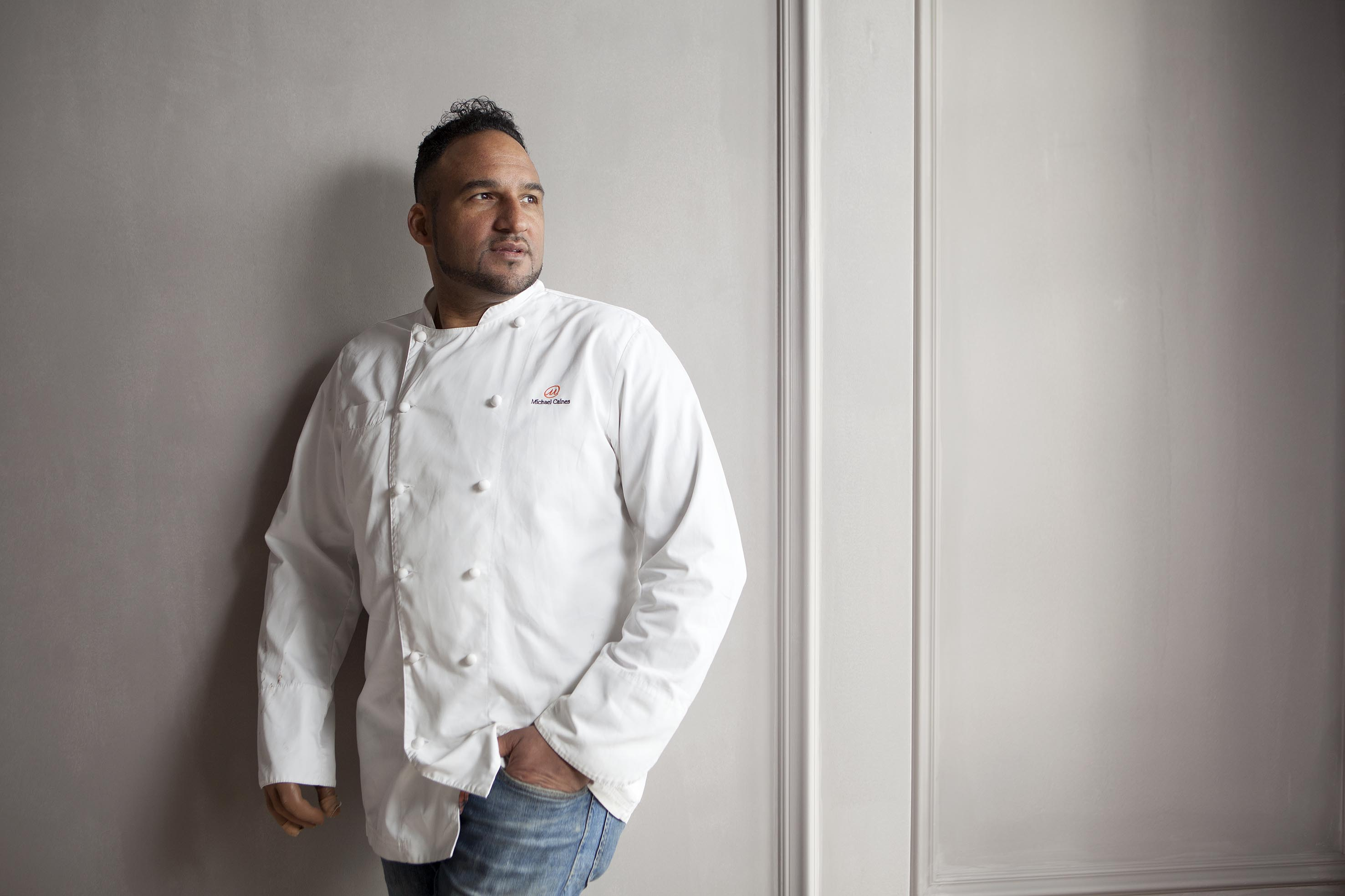 Portrait of top chef Michael Caines at Lympstone