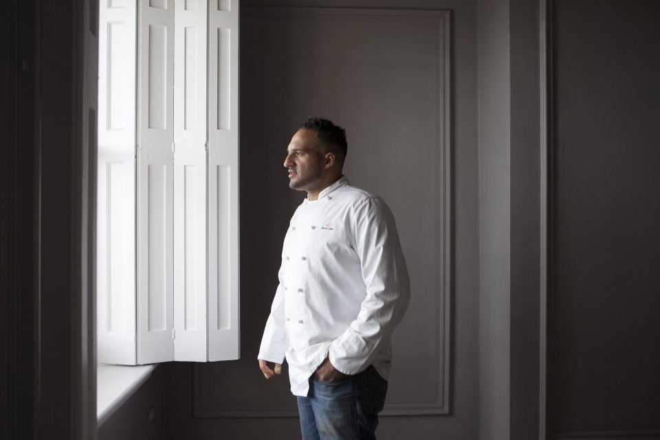 Portrait of top chef Michael Caines