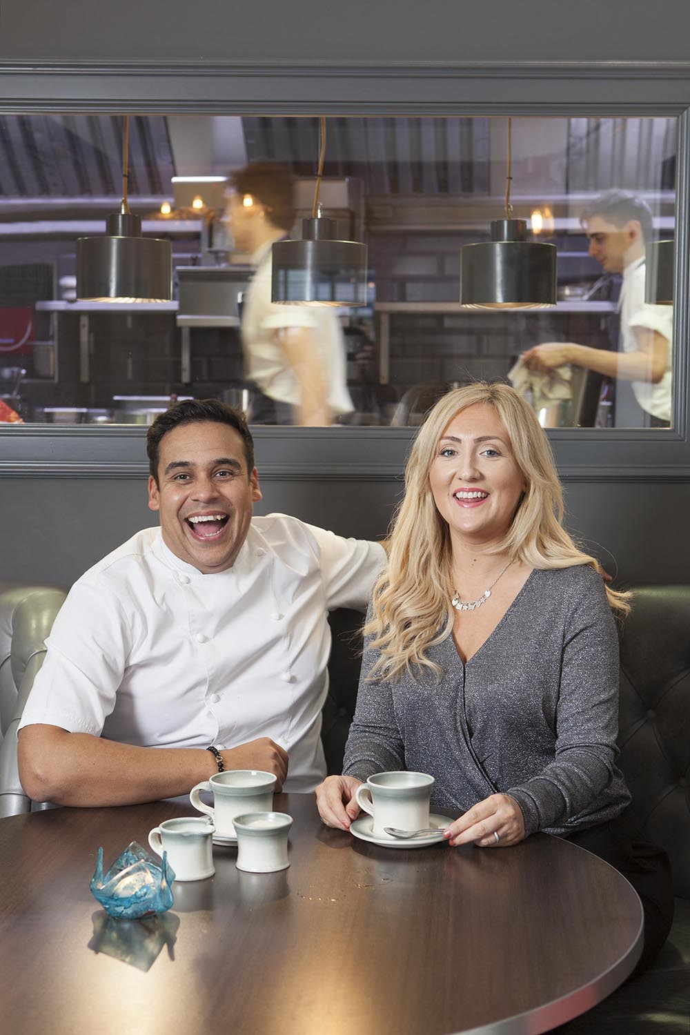 Paul and Emma Ainsworth No.6 Padstow restaurant interiors food portraits for Caterer Magazine