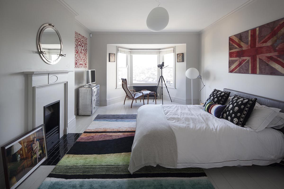 Photography of a bedroom for a Cornwall Estate Agent