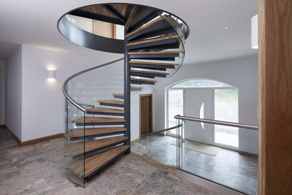 Spiral staircase in St Just Cornwall
